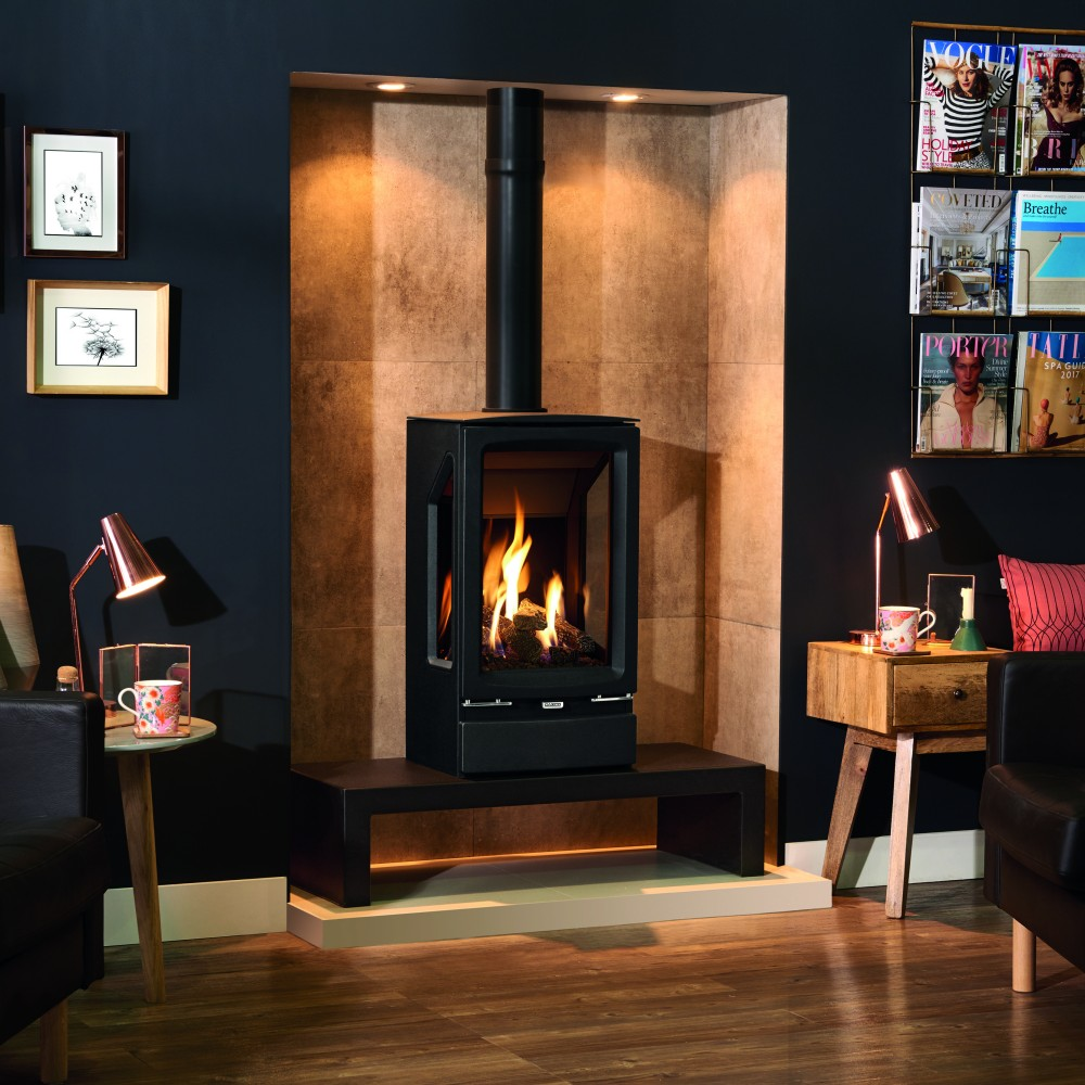 Vogue Midi T 3 Sided Freestanding Gas Stove Firecraft Fireplaces Stoves