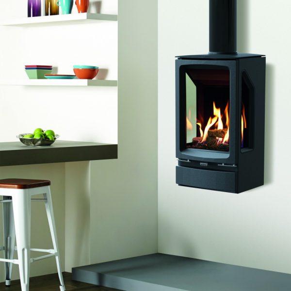 Lennox 3 Sided Propane Fireplace: Vogue Midi T 3 Sided Wall Mounted Gas Stove
