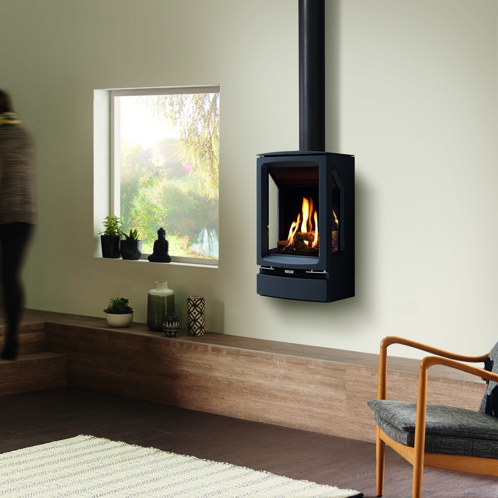Vogue Midi T 3 Sided Wall Mounted Gas Stove